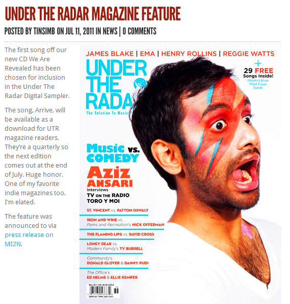 Under The Radar Fall Issue with There Is No Sin